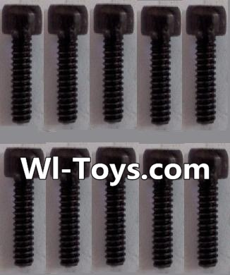 Wltoys L303 RC Car Parts-K939-63 Cup head Hexagon machine screws Parts(10pcs)-M3x8,Wltoys L303 Parts