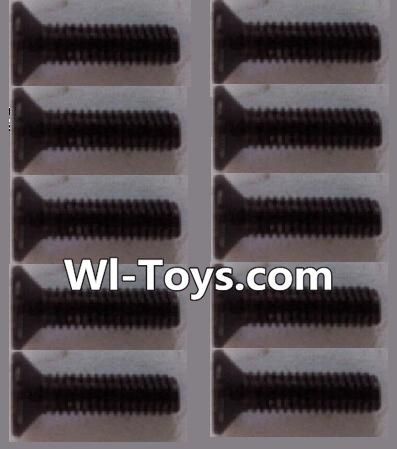 Wltoys L303 RC Car Parts-K949-88 Countersunk head Hexagon machine screws Parts(10pcs)-M3x10TMHO,Wltoys L303 Parts