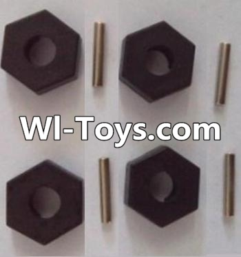 Wltoys L313 RC Car Parts-Hexagonal round seat,Hexagon Wheel seat Parts(4pcs),Wltoys L313 Parts