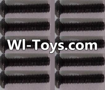 Wltoys L313 RC Car Parts-A929-73 pan head Hexagon head screws Parts(10pcs)-M3x14TMHO,Wltoys L313 Parts