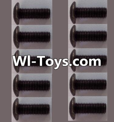 Wltoys L313 RC Car Parts-A929-75 pan head Hexagon head screws Parts(10pcs)-M3x10TMHO,Wltoys L313 Parts