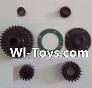 Wltoys L323 RC Car Parts-Transmission gear(Total 7pcs),Wltoys L323 Parts