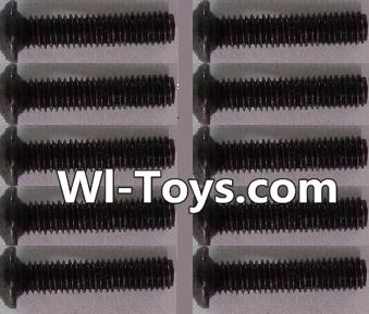 Wltoys L323 RC Car Parts-A929-73 pan head Hexagon head screws Parts(10pcs)-M3x14TMHO,Wltoys L323 Parts