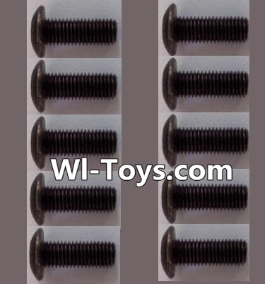 Wltoys L323 RC Car Parts-A929-75 pan head Hexagon head screws Parts(10pcs)-M3x10TMHO,Wltoys L323 Parts