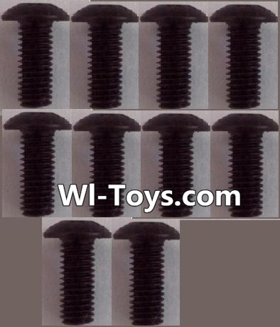 Wltoys L323 RC Car Parts-A929-81 pan head Hexagon head screws Parts(10pcs)-M3x8TMHO,Wltoys L323 Parts