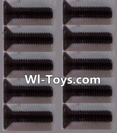 Wltoys L323 RC Car Parts-K949-88 Countersunk head Hexagon machine screws Parts(10pcs)-M3x10TMHO,Wltoys L323 Parts