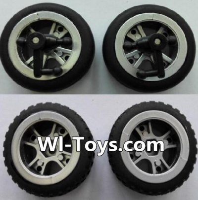 Wltoys L333 Car Parts-Front wheel unit(2pcs) & Rear Wheel unit-(2pcs),Wltoys L333 Parts