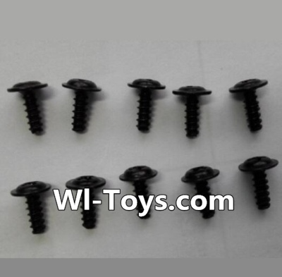 Wltoys L333 Car Parts-Round head self-tapping screws Parts with mediator(10pcs)-M2X6-mediator 5,Wltoys L333 Parts