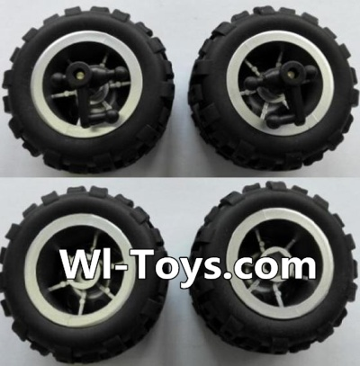Wltoys L343 RC Car Parts-Front wheel unit(2pcs) & Rear Wheel unit-(2pcs),Wltoys L343 Parts