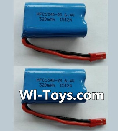 Wltoys L343 RC Car Battery Parts-6.4V Lithium-iron battery-(2pcs),Wltoys L343 Parts