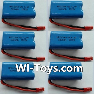 Wltoys L343 RC Car Battery Parts-6.4V Lithium-iron battery Parts-(6pcs),Wltoys L343 Parts