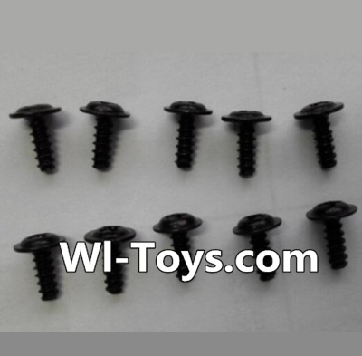 Wltoys L343 RC Car Parts-Round head self-tapping screws Parts with mediator(10pcs)-M2X6-mediator 5,Wltoys L343 Parts