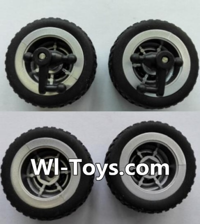 Wltoys L353 RC Car Parts-Front wheel unit(2pcs) & Rear Wheel unit-(2pcs),Wltoys L353 Parts