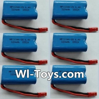 Wltoys L353 RC Car Battery Parts-6.4V Lithium-iron battery Parts-(6pcs),Wltoys L353 Parts