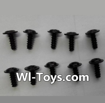 Wltoys L353 RC Car Parts-Round head self-tapping screws Parts with mediator(10pcs)-M2X6-mediator 5,Wltoys L353 Parts