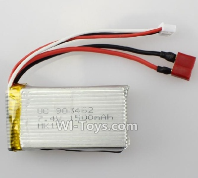 Wltoys L222 Car Parts-7.4v 1500mah battery with T shape Plug(Can only be Used for L222) Parts
