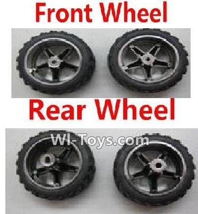 Wltoys L999 RC Car Parts-Front Wheel Parts-2pcs & Rear Wheel Parts-2pcs,Wltoys L999 Parts