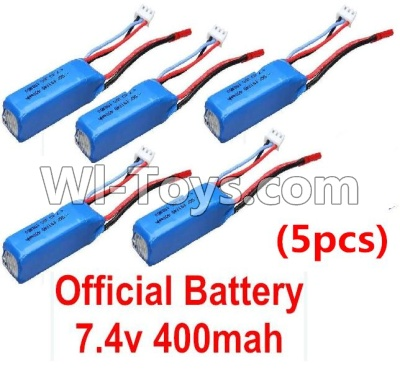 Wltoys P929 Car Parts-Battery-Official WLtoys 7.4V 400mAh Battery(5pcs),Wltoys P929 Parts
