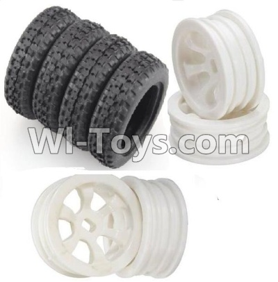 Wltoys P939 RC Car Parts-Rally tire Parts-4pcs-(27.5X8.5mm) & Wheel hub Parts-4pcs