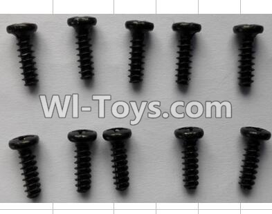 Wltoys P959 RC Car Parts-Round Head self-tapping Screws(10pcs)-M3X10,Wltoys P929 Parts