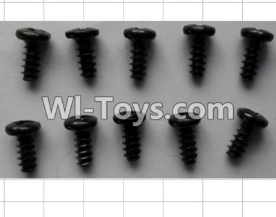 Wltoys P959 RC Car Parts-Round Head self-tapping Screws(10pcs)-M3X7,Wltoys P929 Parts