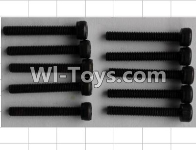Wltoys P959 RC Car Parts-Cup head Inner six angle screw(10pcs)-M3X22,Wltoys P929 Parts