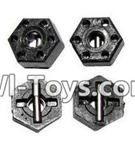 GPTOYS Luctan S912 // Foxx S911 12mm Wheel Hex Pins 1//12 Scale Lock Nuts