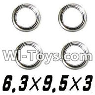 GPToys 9116 Parts Bearing-6.3x9.5x3mm-4PCS-WJ09,GPToys 9116 RC Car Parts