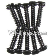 GPToys 9116 Parts screws-Countersunk head screws(M2x10)-10PCS-LS02,GPToys 9116 RC Car Parts