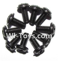 GPToys 9116 Parts screws-Round head screws with meson(M2.5x6x5)-10PCS-LS14,GPToys 9116 RC Car Parts