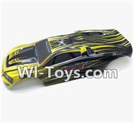 Hosim S912 Parts Body Shell-Car canopy,Shell cover-Yellow-SJ02,Hosim S912 RC Car Parts RC Monster Truck Spare parts
