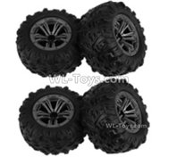 XinLeHong Toys 9135 Parts Whole wheel unit(2pcs)-QZJ02,XinleHong 9135 RC Car Parts