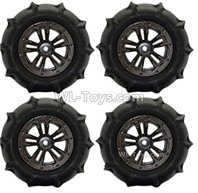 XinLeHong Toys 9135 Parts Anti-sand RC Wheel Tires-85mm-4 set-QZJ02,XinleHong 9135 RC Car Parts