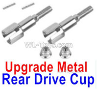 XinLeHong Toys 9135 Parts Upgrade Metal Rear Drive Cup assembly(Original Plastic),Differential Cup(2pcs)-QWJ02,XinleHong 9135 RC Car Parts