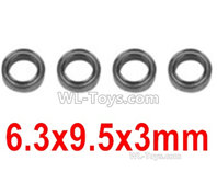 XinLeHong Toys 9135 Parts Bearing(4pcs)-6.3X9.5X3mm-WJ09,XinleHong 9135 RC Car Parts