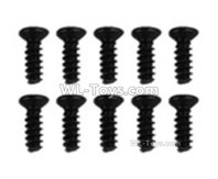 XinLeHong Toys 9135 Parts LS04 Flat head screw(10pcs)-2.6x6PBHO,XinleHong 9135 RC Car Parts