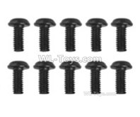 XinLeHong Toys 9135 Parts LS14 Round head screw(10pcs)-2.5x6x5PWMHO,XinleHong 9135 RC Car Parts