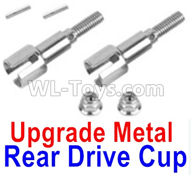 XinLeHong Toys 9136 Parts Upgrade Metal Rear Drive Cup Assembly(Original Plastic),Differential Cup(2pcs)-WJ04,XinleHong 9136 RC Car Parts