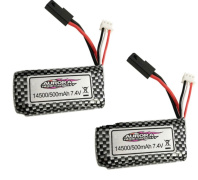 Hosim 9145 Parts-Battery,7.4V 500MAH LIPO Battery-2pcs-45-DJ02,Brushless Hosim 9145 1/20 RC Car Parts
