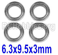 XinLeHong Toys 9145 Parts-15-WJ09 Bearing(4pcs)-6.3×9.5×3mm,Brushless XinleHong 9145 1/20 RC Car Parts
