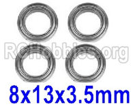 Hosim 9145 Parts-15-WJ10 Bearing(4pcs)-8×13×3.5mm,Brushless Hosim 9145 1/20 RC Car Parts