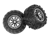 XinLeHong Toys 9145 Parts-Whole Wheel Unit-2 Set-45-ZJ03,Brushless XinleHong 9145 1/20 RC Car Parts