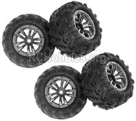 XinLeHong Toys 9145 Parts-Whole Wheel Unit-4 Set-45-ZJ03,Brushless XinleHong 9145 1/20 RC Car Parts