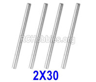 Hosim 9145 Parts-Optical axis-2×30mm,Total 4pcs,45-WJ04,Brushless Hosim 9145 1/20 RC Car Parts