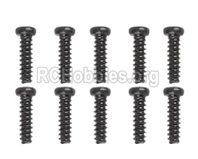 XinLeHong Toys 9145 Parts-LS02 Pan head Cross recessed screws(10PCS)-2.6×13.5PBHO,Brushless XinleHong 9145 1/20 RC Car Parts