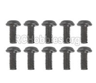 Hosim 9145 Parts-LS14 Pan head Cross recessed screws(10PCS)-2.5×6×5PWMHO,Brushless Hosim 9145 1/20 RC Car Parts