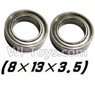 Foxx S911 Parts Bearing 8x13x3.5mm-2PCS-WJ10,Foxx S911 RC Car Parts