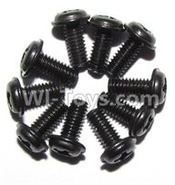 Foxx S911 Parts screws-Round head screws with meson(M2.5x6x5)-10PCS-LS14,Foxx S911 RC Car Parts