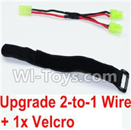 GPToys 9115 Parts Upgrade 2-to-1 wire and Velcro-Two battery can be used together,Run 2x Time than usual Parts-,GP Toys 9115 RC Car Parts