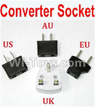 GPToys 9115 Parts Standard Adapter Universal Converter Socket(You can shoose AU,US,EU,UK Version) Parts-,GP Toys 9115 RC Car Parts